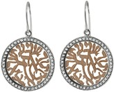 Effy Jewelry 14K Two Tone Gold Diamond Shema Earrings, .35 TCW