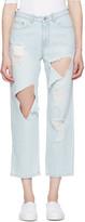 Sjyp Blue Destroyed Cut-out Jeans