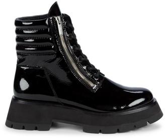 3.1 Phillip Lim Kate Zip Lug-Sole Patent Leather Combat Boots