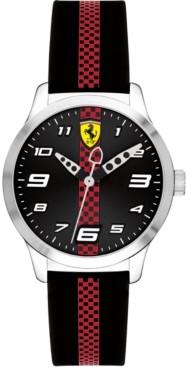 Ferrari Kid's Pitline Red & Black Silicone Strap Watch 34mm