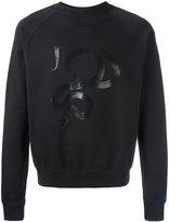Saint Laurent serpent print sweatshirt - men - Cotton - S