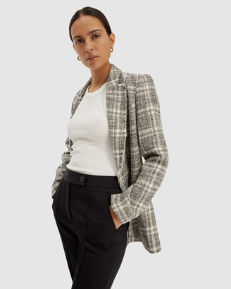 SABA Women's Blazers - Marcelle Longline Blazer - Size One Size, 8 at The Iconic