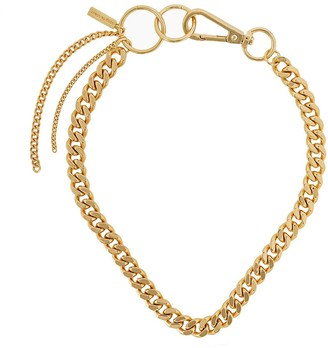 Coup De Coeur London Gold Chain Hoop Linked Necklace