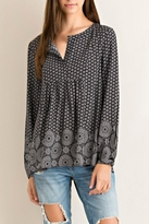 Entro Printed Button Down Blouse