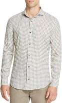 Eleventy Linen Check Regular Fit Button Down Shirt