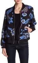 Joe Fresh Floral Crepe Bomber Jacket