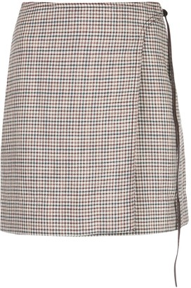 Adam Lippes Checked Mini Skirt