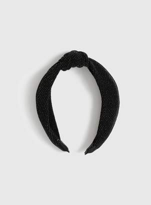 Evans Black Sparkle Knot Headband
