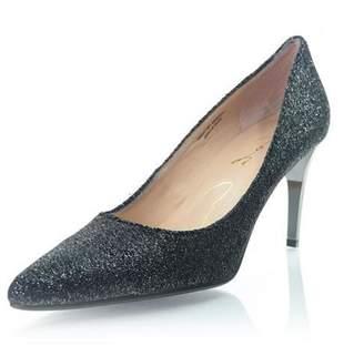 Lola Cruz Black Sparkle Heel