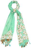 Yumi Floral Print Tassel Scarf