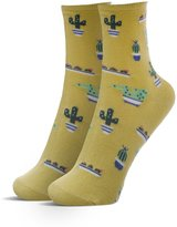 ZZ Socks Women's Cactus Pattern Cotton Boat Socks for Spring Summer