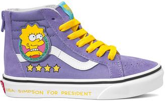 Vans x The Simpsons Lisa For Prez Sk8-Hi Zip Girls Shoes