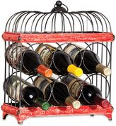 Bed Bath & Beyond Red and Black Bird Cage Wine Rack