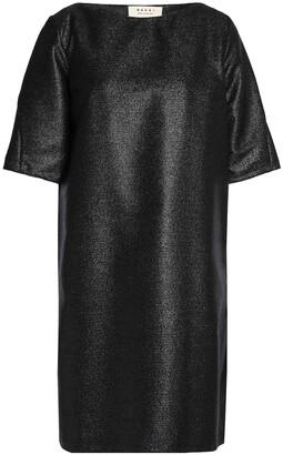 Marni Metallic Wool-blend Crepe Mini Dress