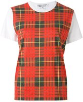 Comme des Garcons checked T-shirt