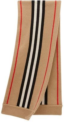 BURBERRY KIDS Icon stripe scarf