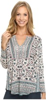 Lucky Brand Block Floral Top