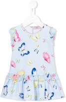 MonnaLisa butterfly print dress - kids - Cotton/Polyester/Spandex/Elastane - 3 mth