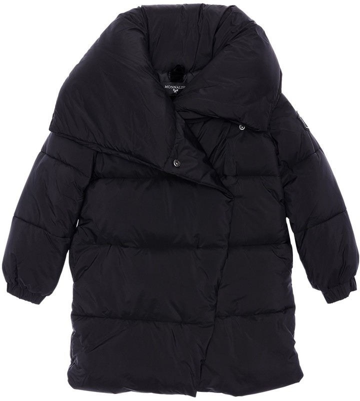 MonnaLisa Hooded Nylon Puffer Coat