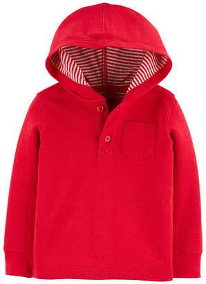 Osh Kosh Oshkosh Boys Hooded Neck Long Sleeve T-Shirt-Toddler