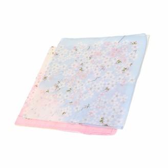 Fenteer 2 Pack Ladies Womens Cotton Handkerchief Flower Pattern Floral Printed Hankies