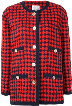 Edward Achour Paris Checked Button-Up Coat