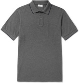 Sunspel Riviera Slim-fit Contrast-tipped Cotton-piqué Polo Shirt - Gray