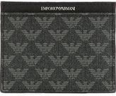 Emporio Armani logo print cardholder - men - Leather - One Size