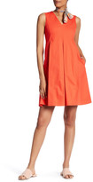 Lands' End Canvas Sleeveless Pleated Dress