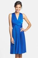 Plus Size Women's Dessy Collection Convertible Wrap Tie Surplice Jersey Dress