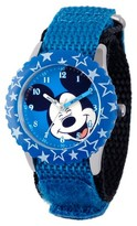 Disney Boys' Mickey Mouse Stainless Steel Case with Bezel Watch - Blue