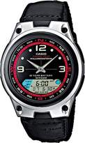 Casio Collection – Men's Analogue/Digital Watch with Imitation Leather/Cloth Strap – AW-82B-1AVES