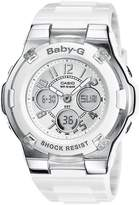 Baby-G Casio Casio Women's BGA110-7B White Resin Quartz Watch