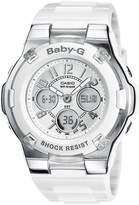 Casio Women's Baby-G BGA110-7B White Resin Quartz Watch