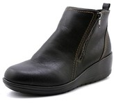 Softspots Carrigan Women Round Toe Leather Black Ankle Boot.