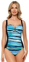 Croft & Barrow Women's Striped Tummy Slimmer One-Piece Swimsuit