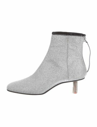 Calvin Klein Glitter Ankle Boots Silver Glitter Ankle Boots