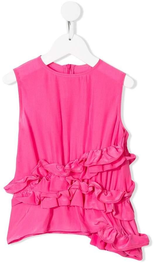 Marni ruffle trim blouse