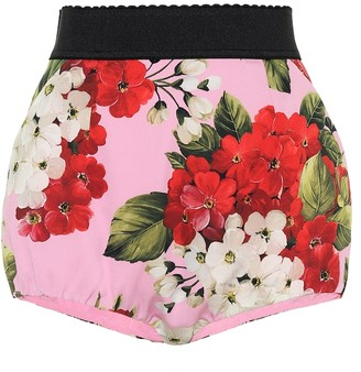 Dolce & Gabbana Floral stretch-silk shorts