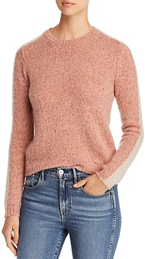 Majestic Filatures Cashmere Sleeve Stripe Sweater