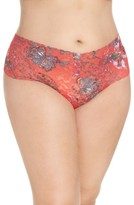 Hanky Panky Plus Size Women's Fiery Floral Thong