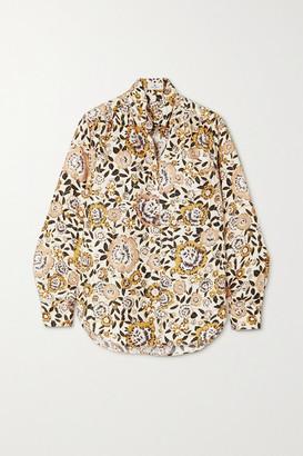 Etro Floral-print Silk-twill Shirt - Ivory
