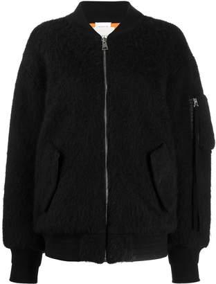 Laneus colour block bomber jacket