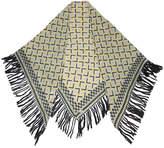 A Peace Treaty printed fringe scarf