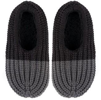 Verloop Colorblock Rib Slippers Black Grey Medium/Large