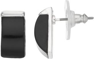 Dana Buchman Black Rectangle Dome Earrings