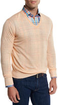 Peter Millar Lightweight Wool-Linen V-Neck Sweater