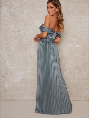 Chi Chi London Lauren Bridesmaid Dress - Green