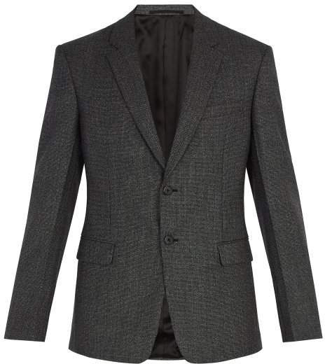 Prada Two Button Wool Suit Jacket - Mens - Grey