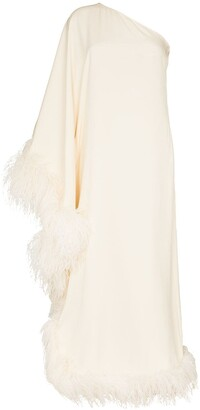 Taller Marmo Father Trim One-Shoulder Gown